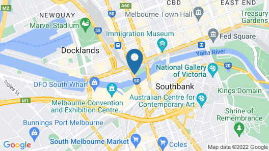 Crowne Plaza Melbourne Map