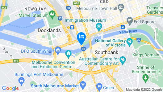 Crowne Plaza Melbourne, an IHG Hotel Map