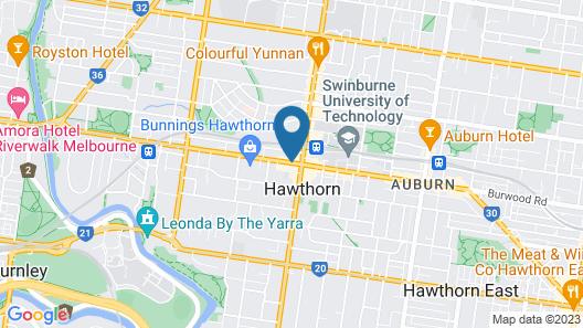 Glenferrie Hotel Map