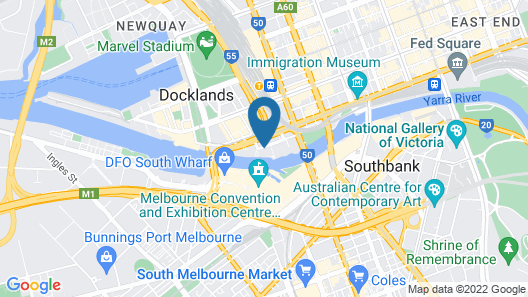 Waterfront Melbourne Apartments Map