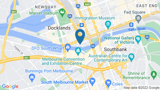 Melbourne Holiday Apartments Flinders Wharf Map