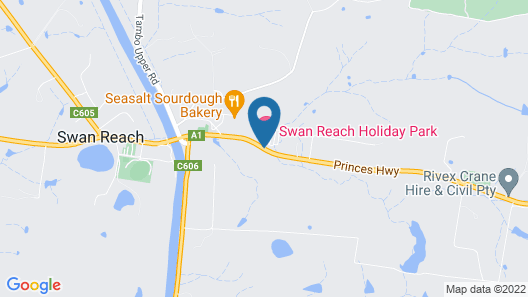 Swan Reach Holiday Park Map
