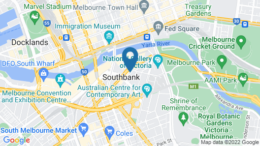 Serviced Apartments Melbourne- Australia Map