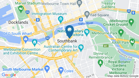 Platinum Apartments on Southbank Map