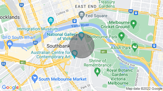 ReadySet Apartments Southbank One Map