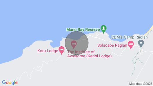 Whale Bay Paradise, Raglan Map