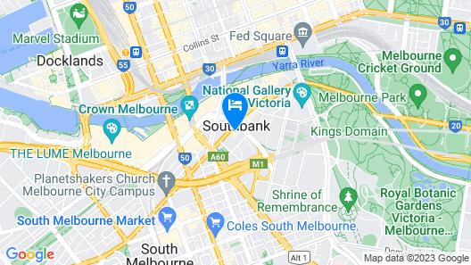 Ink Hotel Melbourne Southbank Map