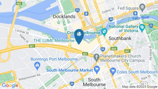 Novotel Melbourne South Wharf Map