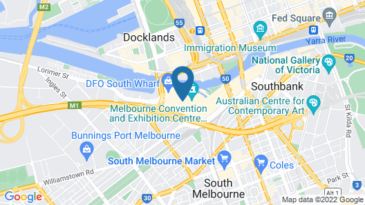 Pan Pacific Melbourne Map