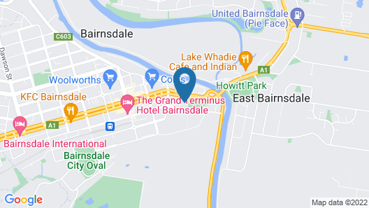 Bairnsdale Bed and Breakfast Map