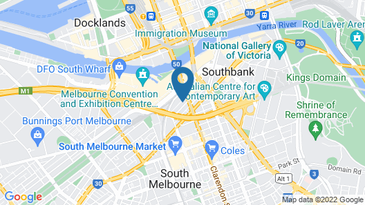 Southbank Central Stayz opposite Crown Map