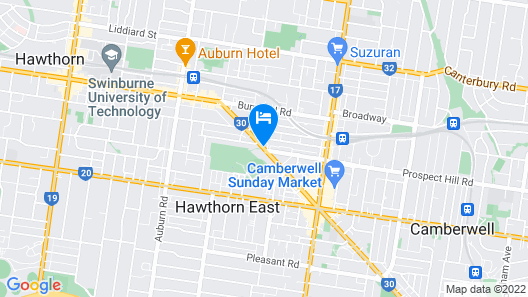 Camberwell Serviced Apartment Hotel Map