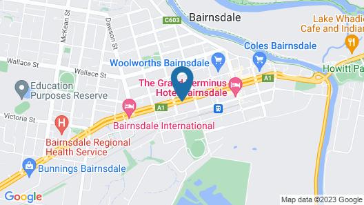 Bairnsdale Motor Inn Map