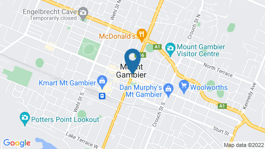 Mount Gambier Hotel Map