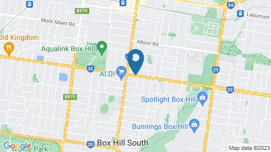 Australian Home Away @ Box Hill 2 Bedroom Map