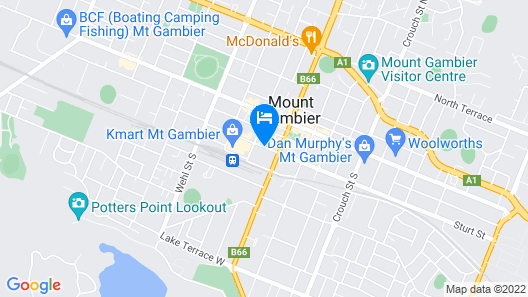 Mid City Motel - Mount Gambier Map