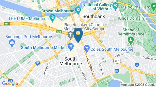 Melbourne City Apartments - Teri Map