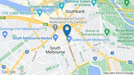 Clarendon Hotel Melbourne Map