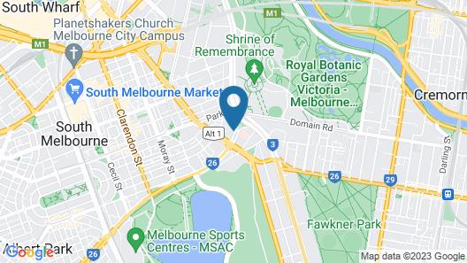 Apartments Melbourne Domain – St Kilda Road Map