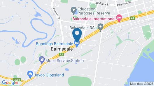 Bairnsdale Main Motel Map
