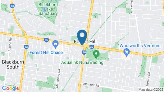 Canterbury International Hotel Map
