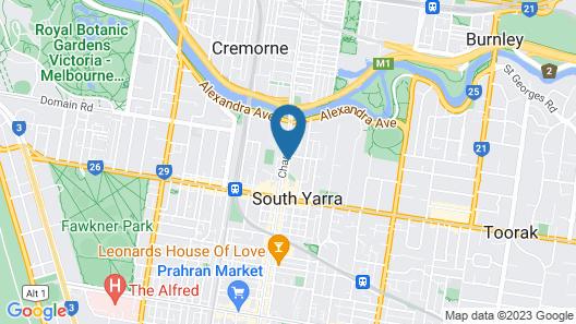 Urban Oasis - Designed Service Apartment Map