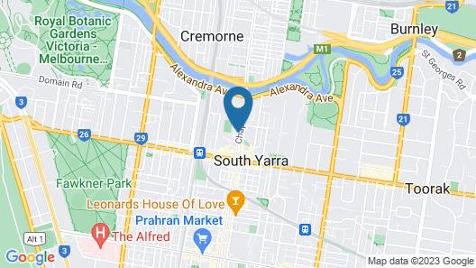 Melbourne South Yarra Central Aparment Map