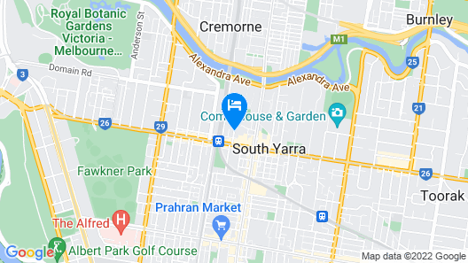District South Yarra Map