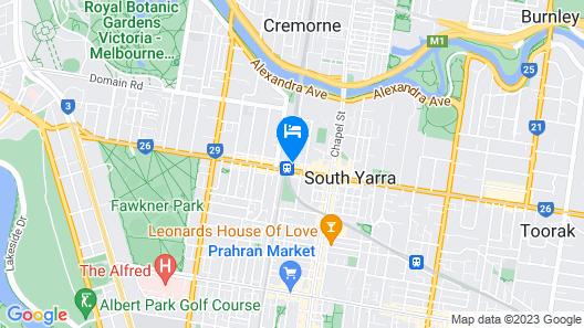 Oaks Melbourne South Yarra Suites Map
