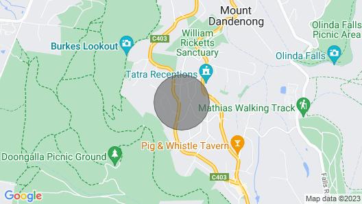 Mountain Villa in Dandenong Ranges Map