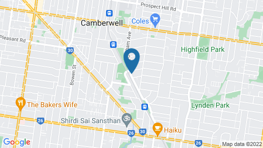 Camberwell Guesthouse Map