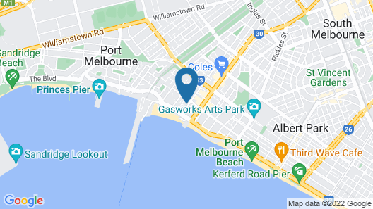 The Hamptons Apartments - Port Melbourne Map