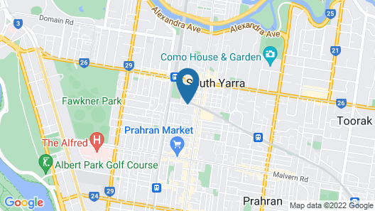 Apartments of South Yarra Map