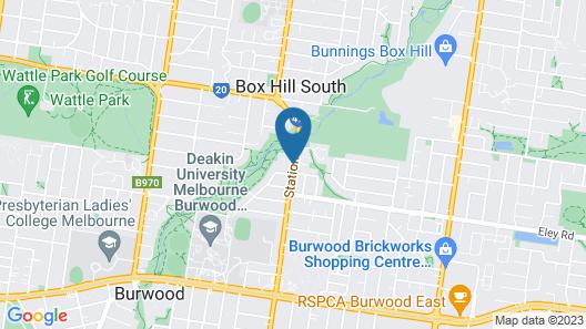 Box Hill Motel Map