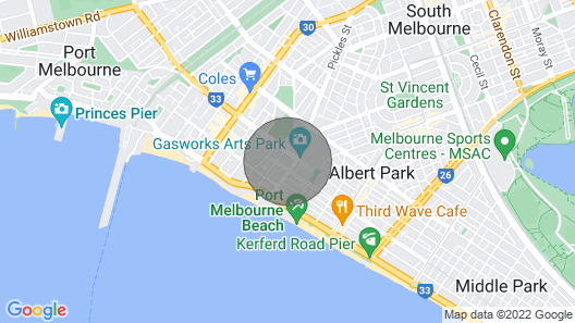 Art Deco Meets The Beach Port Melbournefree Wififree Parking Map