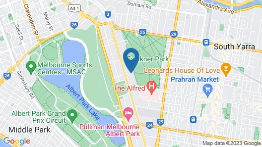 Fawkner Apartment 1B1B Map