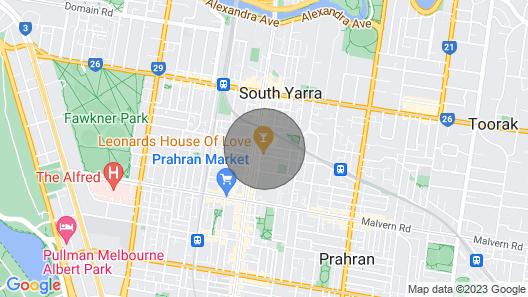 City View South Yarra Apartcarparknetflixwine Map