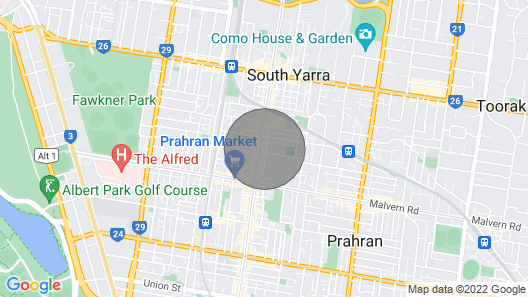 Uptown City Views in the Heart of South Yarra Map