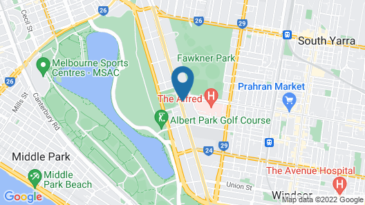 Astra Apartments - St Kilda Rd Map