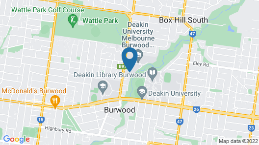 Deakin Residential Services Map
