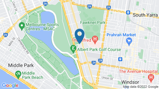 View Melbourne (Melbourne Parkview Hotel) Map