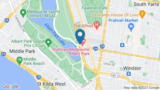 Pullman Melbourne Albert Park Map