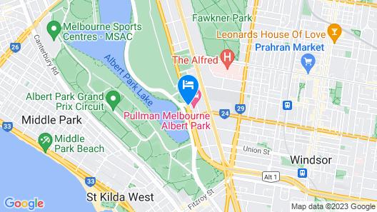 Mercure Melbourne Albert Park Map