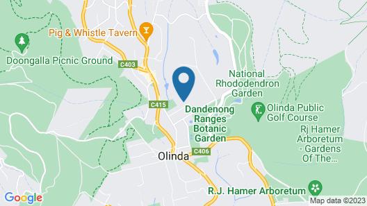 Leddicott Cottage Map