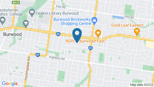 AUJOY 4 Bed Townhouse Burwood 2 Map