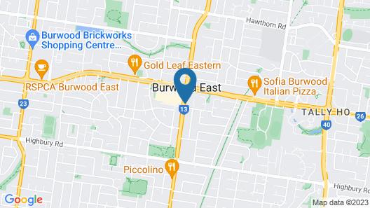 Burwood East Motel Map