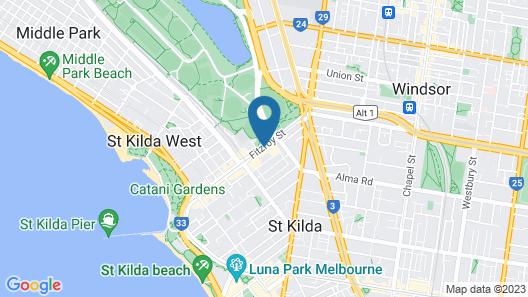 Adina Apartment Hotel St Kilda Melbourne Map