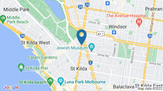 Crest on Barkly Serviced Apartments Map
