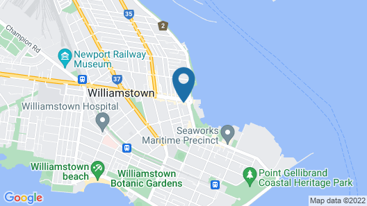 Melbourne Holiday Apartments Williamstown Map
