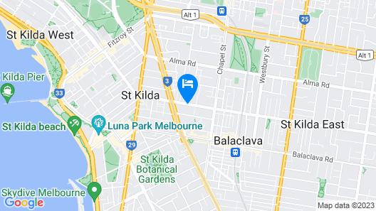 Adara St Kilda Map